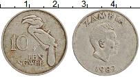 Изображение Монеты Замбия 10 нгвей 1982 Медно-никель XF