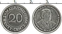 Изображение Монеты Маврикий 20 центов 1957 Медно-никель UNC-