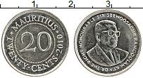 Изображение Монеты Маврикий 20 центов 2010 Медно-никель UNC-