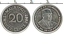 Изображение Монеты Маврикий 20 центов 2007 Медно-никель UNC-