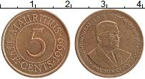 Изображение Монеты Маврикий 5 центов 1999 Бронза XF