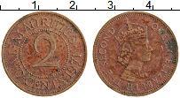 Изображение Монеты Маврикий 2 цента 1971 Бронза XF