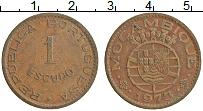 Изображение Монеты Мозамбик 1 эскудо 1973 Бронза XF Португальская колони