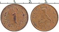 Изображение Монеты Зимбабве 1 цент 1997 Бронза XF