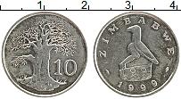 Изображение Монеты Зимбабве 10 центов 1999 Медно-никель XF