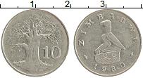 Изображение Монеты Зимбабве 10 центов 1980 Медно-никель XF