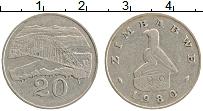 Изображение Монеты Зимбабве 20 центов 1980 Медно-никель XF
