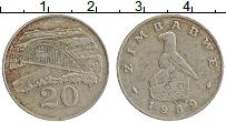 Изображение Монеты Зимбабве 20 центов 1989 Медно-никель XF