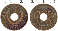 Изображение Монеты Восточная Африка 5 центов 1955 Бронза XF