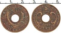Изображение Монеты Восточная Африка 5 центов 1943 Бронза XF