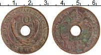 Изображение Монеты Восточная Африка 10 центов 1945 Бронза XF Георг VI