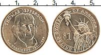 Изображение Монеты США 1 доллар 2007 Латунь UNC-