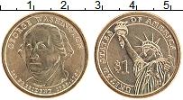 Изображение Мелочь США 1 доллар 2007 Латунь UNC- 1-й президент США Дж