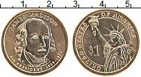 Изображение Мелочь США 1 доллар 2007 Латунь UNC- 4-й президент США Дж