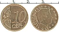 Продать Монеты Люксембург 10 евроцентов 2007 Латунь