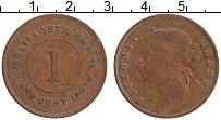 Изображение Монеты Стрейтс-Сеттльмент 1 цент 1897 Медь XF Виктория