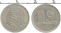 Изображение Монеты Малайзия 5 сен 1973 Медно-никель XF