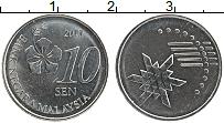 Изображение Монеты Малайзия 10 сен 2013 Медно-никель UNC-
