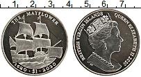 Изображение Мелочь Виргинские острова 1 доллар 2020 Медно-никель UNC Елизавета II. Корабл