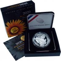 Изображение Подарочные монеты США 1 доллар 2020 Серебро Proof