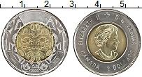 Изображение Мелочь Канада 2 доллара 2020 Биметалл UNC Елизавета II.100 лет