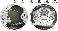 Изображение Монеты Латвия 1 лат 2013 Серебро Proof 150 лет со дня рожде