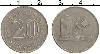 Изображение Монеты Малайзия 20 сен 1973 Медно-никель XF