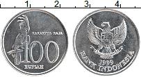Изображение Монеты Индонезия 100 рупий 1999 Алюминий UNC-