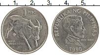 Изображение Монеты Филиппины 1 писо 1990 Медно-никель XF Хосе Рисаль