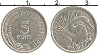 Изображение Монеты Сингапур 5 центов 1970 Медно-никель XF