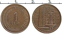Изображение Монеты Сингапур 1 цент 1981 Бронза XF