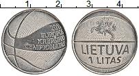 Изображение Монеты Литва 1 лит 2011 Медно-никель UNC-