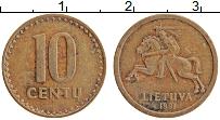 Изображение Монеты Литва 10 центов 1991 Бронза XF