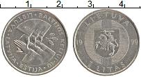 Изображение Монеты Литва 1 лит 1999 Медно-никель XF Балтийский путь