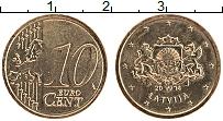 Продать Монеты Латвия 10 евроцентов 2014 Латунь