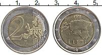 Продать Монеты Эстония 2 евро 2011 Биметалл