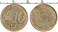 Продать Монеты Эстония 10 евроцентов 2011 Латунь