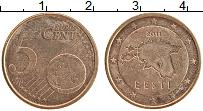 Изображение Монеты Эстония 5 евроцентов 2011 Бронза UNC-