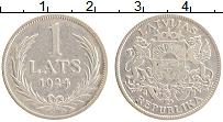 Изображение Монеты Латвия 1 лат 1924 Серебро XF