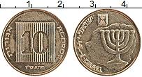 Изображение Монеты Израиль 10 агор 1989 Латунь UNC-