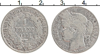 Изображение Монеты Франция 1 франк 1887 Серебро VF