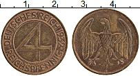 Продать Монеты Веймарская республика 4 пфеннига 1932 Медь