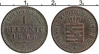 Продать Монеты Саксен-Веймар-Эйзенах 1 пфенниг 1865 Медь