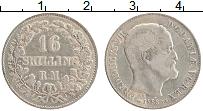Изображение Монеты Дания 16 скиллингов 1858 Серебро XF Фредерик VII