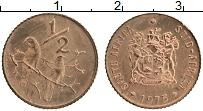 Изображение Монеты ЮАР 1/2 цента 1975 Бронза UNC-