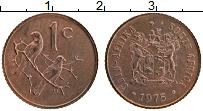Изображение Монеты ЮАР 1 цент 1975 Бронза UNC-