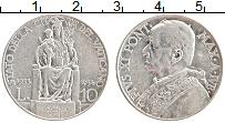 Изображение Монеты Ватикан 10 лир 1934 Серебро XF