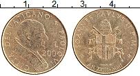 Изображение Монеты Ватикан 200 лир 2001 Латунь XF