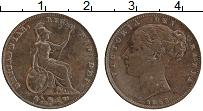 Изображение Монеты Великобритания 1 фартинг 1853 Медь XF