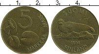 Изображение Монеты Финляндия 5 марок 1994 Латунь XF